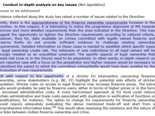 La discussione sui regolamenti inerenti alle armi da fuoco nell'UE : ovvero come ti disarmo i civili.