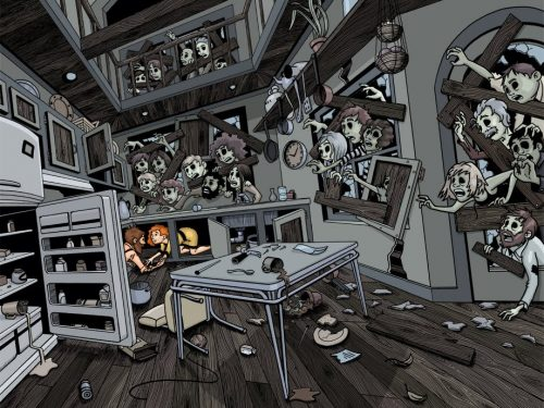 Zombie, statali e sopravvissuti, una allegoria della situazione attuale.